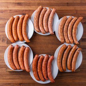 Sausage Sampler-NEW! A sample pack our of most popular fully cooked smoked sausages!